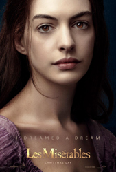 <i>Les Misérables</i> poster featuring Anne Hathaway