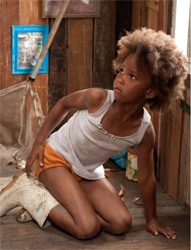 Quvenzhané Wallis in a still from the film <i>Beasts of the Southern Wild</i>