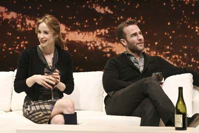 Jaime Ray Newman and James Van Der Beek in the American premiere of <i>The Gift</i> at the Geffen Playhouse.