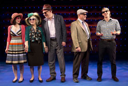 The cast of <i>Old Jews Telling Jokes</i> off-Broadway