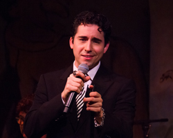 John Lloyd Young performing at the Cafe Carlyle in New York City