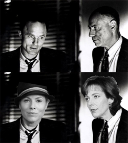 Maria Bello as Dave Moss/Ed Harris and Allison Janney as George Aaronow/Alan Arkin
