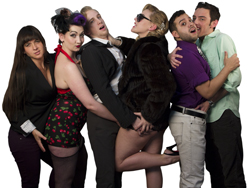 The cast of <i>Let My People Come</i>