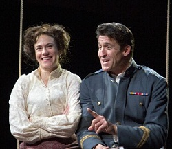 Maggie Siff and Jonathan Cake in <i>Much Ado About Nothing</i>