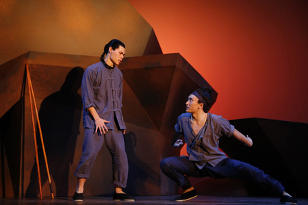 Ruy Iskandar and Yuekun Wu in <I>The Dance and the Railroad</I>.