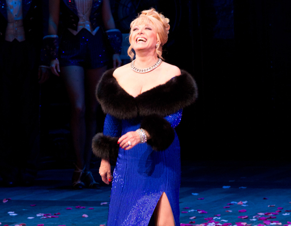 Elaine Paige takes her bow on the opening night of Broadway's <i>Follies</i> in 2011.