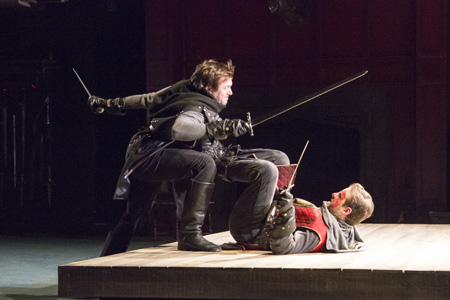 Shawn Fagan and John Brummer in <I>Henry IV, Part 1</I>.