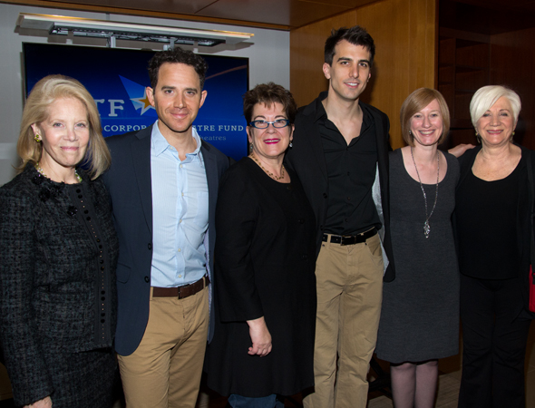 Producer Daryl Roth (<i>Kinky Boots</i>), actor Santino Fontana (<i>Cinderella</i>), Arena Stage Artistic Director Molly Smith, <i>Really Really</i> playwright Paul Downs Colaizzo, American Theatre Wing Executive Direc