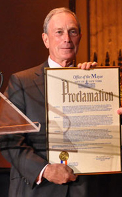 Michael Bloomberg loves proclamations.