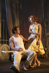Scarlett Johansson and Benjamin Walker in <i>Cat on a Hot Tin Roof</i>