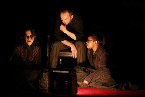 Bianca Amato, Luke Robertson, and Quincy Tyler Bernstine in <I>Neva</I>.