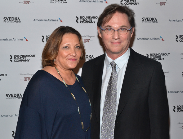 Richard Thomas  joined by wife Richard Thomas Wife