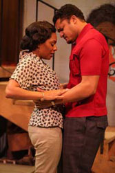 Michelle Wilson and Brandon J. Dirden in <i>Detroit '67</i>