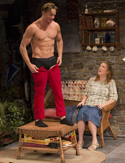 Billy Magnussen and Kristine Nielsen in <I>Vanya and Sonia and Masha and Spike</i>