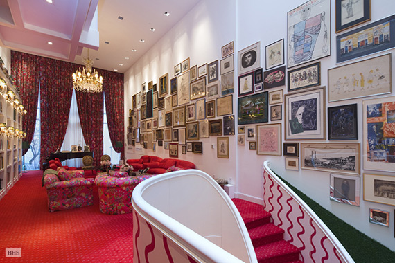 "The ""enchanted world"" of Hal Prince's living room."