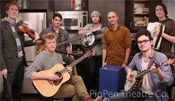 A still from PigPen's TheaterMania Kitchen Concert