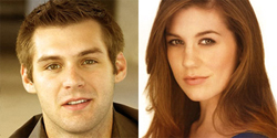 "<i>Once</i>'s new ""Guy"" and ""Girl,"" Ben Hope and Laura Dreyfuss, courtesy of the company"