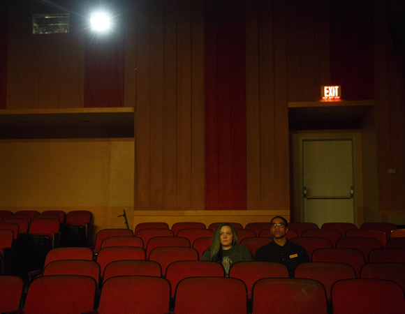 Louisa Krause and Aaron Clifton Moten in <i>The Flick</i>