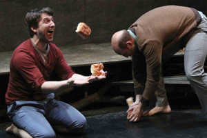 Nick Abeel and Jonathan Dickson in <i>BEARS</i> at 59E59 Theaters.