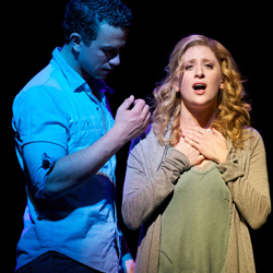 Richard Fleeshman and Caissie Levy in a scene from <i>Ghost The Musical</i>