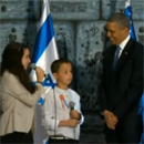 "Children Sing ""Tomorrow"" for President Obama in Hebrew, Arabic, and English at Israeli President Shimon Peres' House"