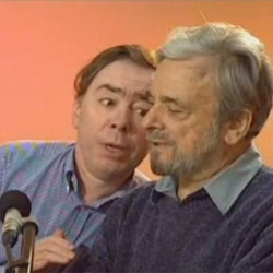Sir Andrew Lloyd Webber and Stephen Sondheim  in <i>Dueling Pianos</i>