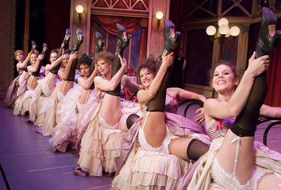 Dancers in the Pasadena Playhouse production of <I>Can-Can</I>.