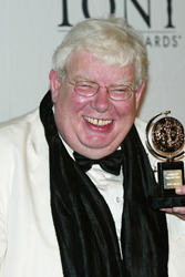 Richard Griffiths shows off his Tony Award.