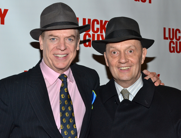 Christopher McDonald and his character's real-life counterpart, lawyer Eddie Hayes, are dapper on opening night.<br />(© David Gordon)