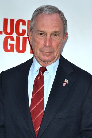 New York City Mayor Michael Bloomberg checks out this quintessential New York story on opening night.<br />(© David Gordon)