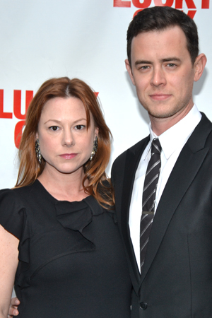 Colin Hanks (right) and his wife, Samantha, are proud to support papa Tom on his opening night. <br />(© David Gordon)