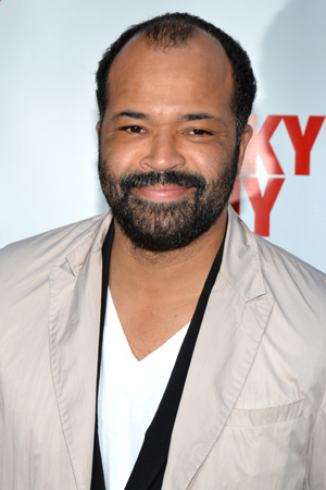 Jeffrey Wright is on hand to support his frequent collaborator, <i>Lucky Guy</i> director George C. Wolfe.<br />(© David Gordon)