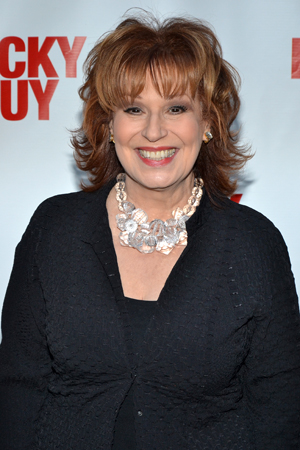 <i>The View</i> co-host Joy Behar arrives just in time for curtain.<br />(© David Gordon)