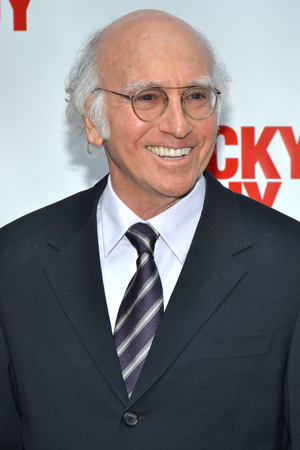 Larry David won't curb his enthusiasm about attending the <i>Lucky Guy</i> opening.<br />(© David Gordon)