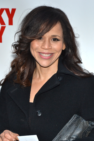 Rosie Perez is ecstatic to attend her pal George C. Wolfe's latest Broadway opening.<br />(© David Gordon)