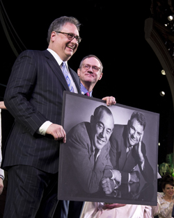 Douglas Carter Beane and Mark Brokaw honor Rodgers and Hammerstein at <i>Cinderella</i>'s Broadway opening.