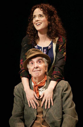 Melissa Errico with Milo O'Shea in <i>Finian's Rainbow</i>
