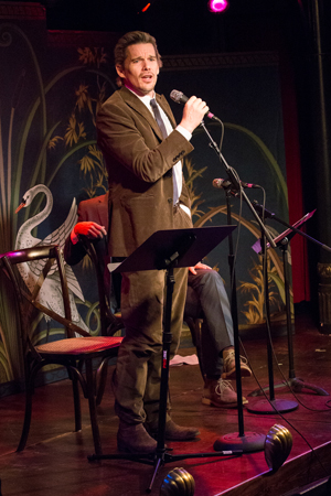 March 3 – Ethan Hawke speaks at the Epic Theatre Ensemble's annual gala at the McKittrick Hotel.<br />(© Gulshan Kirat)