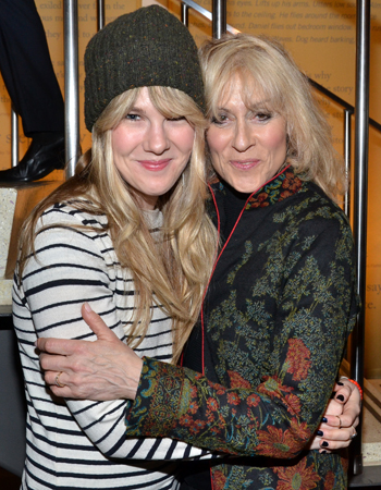 March 12 – Lily Rabe and Judith Light share a hug at the opening of Playwrights Horizons' <i>The Flick</i>.<br />(© David Gordon)