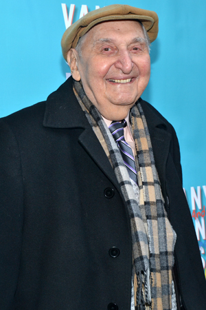 March 14 – Fyvush Finkel steps out for the opening of <i>Vanya and Sonia and Masha and Spike</i>.<br />(© David Gordon)