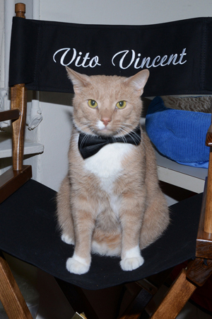 March 20 - <i>Breakfast at Tiffany's</i> star Vito Vincent shows off his opening night finery.<br />(© Monica Simoes)