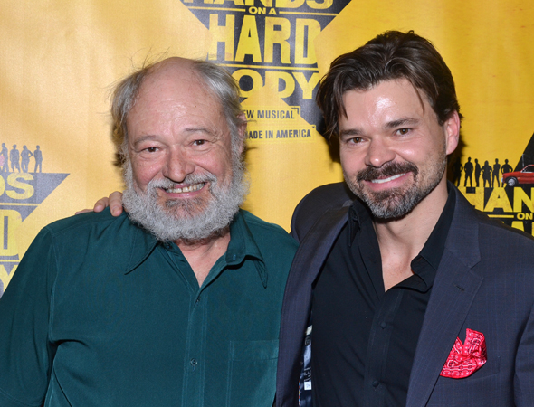 March 21 – Hunter Foster (right) shares a photo with his character's real-life counterpart, Benny Perkins.<br />(© David Gordon)