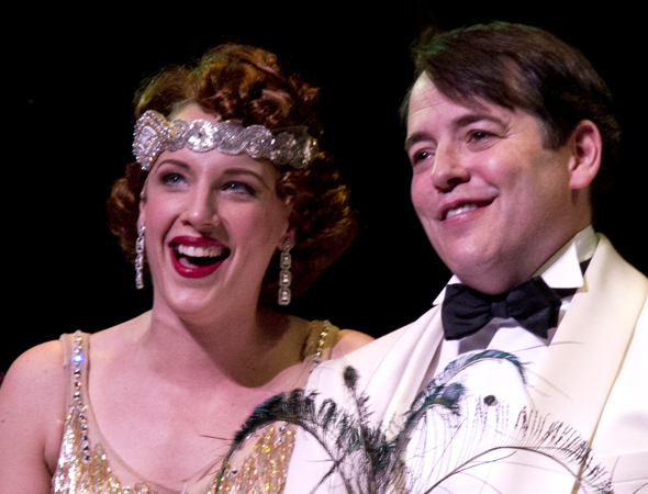 March 29 – Matthew Broderick and Broadway's <i>Nice Work if You Can Get It</i> welcomes Jessie Mueller to the company. <br />(© David Gordon)