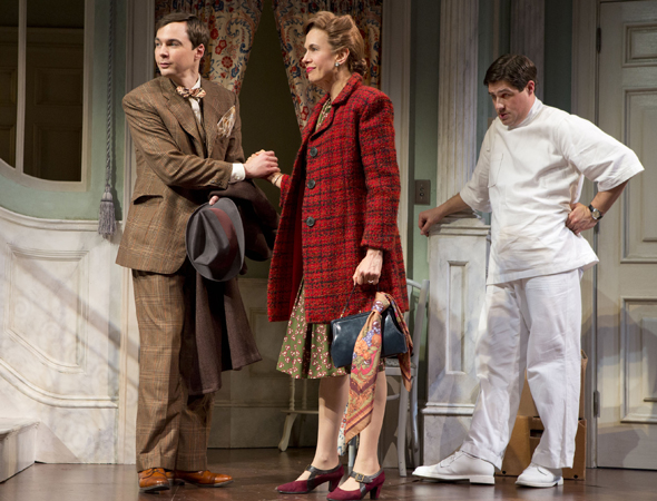 Also in 2012, Rich Sommer, who plays ad man Harry Crane, made his Broadway debut as the no-nonsense Duane Wilson in Roundabout Theatre Company's revival of <i>Harvey</i>, opposite Jim Parsons and Jessica Hecht.<br />(© Joan Marcus)