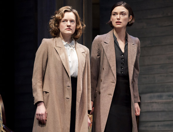 No stranger to the stage, Emmy Award nominee Elisabeth Moss, who appears on <i>Mad Men</i> as secretary-turned-copywriter Peggy Olson, has appeared on Broadway in <i>Speed-the-Plow</i> and in London's West End opposite Keira Knightley in <i>The Children's Hour</i>.<br />(© Johan Persson)