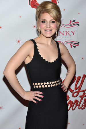 Annaleigh Ashford brings down the house as Lauren, a love interest for Stark Sands' Charlie Price.<br />(© David Gordon)