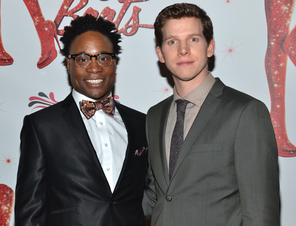 Billy Porter and Stark Sands smile for the camera.<br />(© David Gordon)