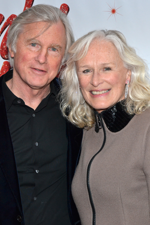 Tony Award winner Glenn Close takes in an evening of theater with her husband, private equity manager David Evans Shaw.<br />(© David Gordon)