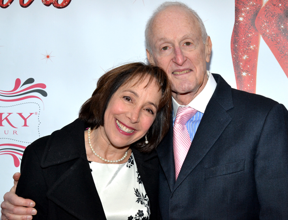<i>Grease</i>'s beauty school dropout, Didi Conn, poses with husband, Academy Award-winning composer David Shire. <br />(© David Gordon)