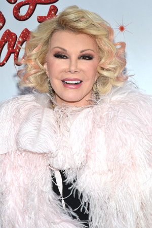 Joan Rivers pays tribute to Cyndi Lauper with her highlights. <br />(© David Gordon)